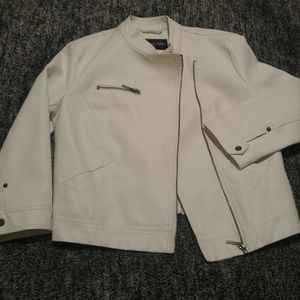 Faux leather jacket River Island